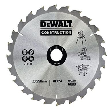 DEWALT DT1158-QZ Pilový kotouč 250x30 24z(7878265)