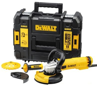 DEWALT DWE4217KT-QS Bruska úhlová 125mm 1200W set sanace  (7902143)