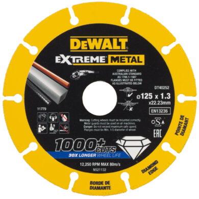 DEWALT DT40252 Kotouč diamantový řezný na kov 125x1,3x22,23mm                   (7913753)