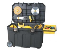 STANLEY 1-92-978 Box pojízdný na nářadí 90L-Pojízdný box na nářadí s kovovými přezkami, Stanley