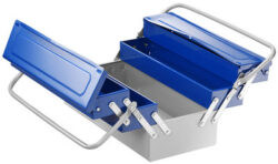 EXPERT E194738 Box na nářadí rozkládací 450mm-Plechový kufr na nářadí 490x25x230mm TONA