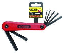 STANLEY 4-69-261 Sada klíčů 7dílná inbus (imbus) 1,5-6,0mm-Sada klíčů zástrčných šestihranných - IMBUS 7-dílná, 1,5-6mm