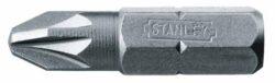 STANLEY 0-68-949 Bit PZ2 25mm (3ks)-1/4 bity křížové Pozidriv Pz2 25 mm ruční