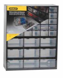 STANLEY 1-93-981 Zásobník plastový 39 zásuvek-Víceúčelový zásuvkový organizer (30 malých a 9 velkých zásuvek)