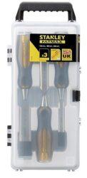 STANLEY 2-16-268 Sada dlát 3dílná 12,18,25mm kovový úderník FatMax-FatMax® sada dlát s průběžným dříkem