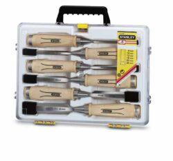 STANLEY 1-16-416 Sada dlát 6dílná 6,10,12,16,20,25mm s dřevěnou rukojetí-Sada dlát Bailey® s dřevěnou rukojetí