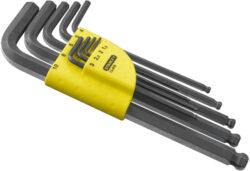 STANLEY 1-13-976 Sada klíčů 9dílná inbus (imbus) 1,5-10,0mm s koulí prodl.-Sada zástrčných klíčů
