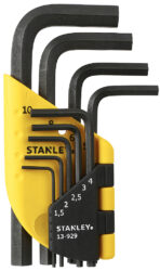 STANLEY 1-13-929 Sada klíčů 9dílná inbus (imbus) 1,5-10,0mm-Sada zástrčných klíčů
