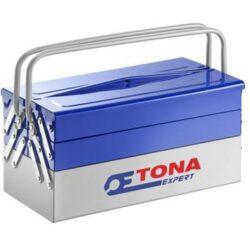 EXPERT E010201 Box na nářadí rozkládací 535mm-Plechový kufr na nářadí 575x250x230mm TONA