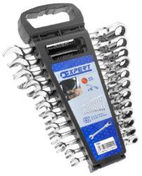 EXPERT E111102 Sada klíčů 12dílná ráčnových s kloubem-Sada kloubových ráčnových klíčů, 12 dílná