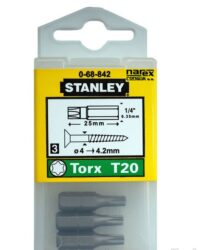 STANLEY 0-68-842 Bit TX20 25mm (3ks)-1/4 bity TORX TX20 ruční 25 mm