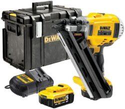 DEWALT DCN692P2K-QW Aku kladivo hřebíkovací 18V 4,0Ah Li-ion, kufr DS400-Bezuhlíková aku dvourychlostní hřebíkovačka 18V 2x5,0Ah + kufr Tough System