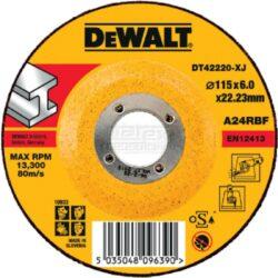 DEWALT DT42220 Kotouč brusný 115x6mm-Brusný kotouč na kov vypouklý 115 mm