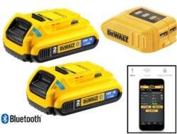 DEWALT DCB283BC-XJ Akumulátor 2x18V 2,0Ah Li-ion BLUETOOTH-Dewalt Bluetooth Li-Ion baterie s USB adaptérem 18V/2Ah