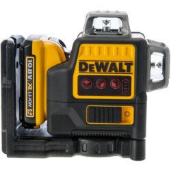 DEWALT DCE089D1R-QW Aku laser linkový 10,8V 1x2,0Ah 3x červený paprsek-3x paprsek - 2x vertikální a 1x horizontální