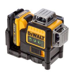 DEWALT DCE089D1G-QW Aku laser linkový 10,8V 1x2,0Ah 3x zelený paprsek-3x paprsek - 2x vertikální a 1x horizontální