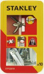 Hmoždinka do sádrokartonu kovová s vrutem 30mm SET10 STANLEY STF52010-XJ