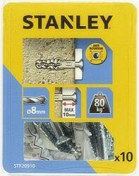Hmoždinka do betonu nylon s vrutem 8x40mm SET10 STANLEY STF20910-XJ
