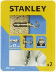 Kotva štítová rozpínací s hákem 12x45mm SET2 STANLEY STF41602-XJ