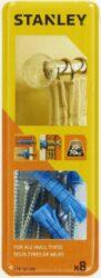 Hmoždinka uzlovací pro montáž garnýží 8x40mm s vrtákem SET8 STANLEY STF78109-XJ