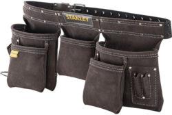 STANLEY STST1-80113 Opasek kožený s kapsami na nářadí-Opasek kožený s kapsami na nářadí