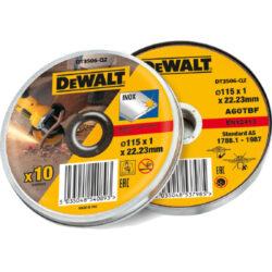 DEWALT DT3506 Kotouč řezný 115x1mm v boxu (10ks bal.)