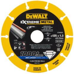 DEWALT DT40252 Kotouč diamantový řezný na kov 125x1,3x22,23mm-Řezný diamantový kotouč 125mm na kov