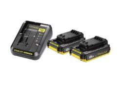 STANLEY FMC693D2-QW Set 2x akumulátor 18V 2,0Ah + nabíječka 2,0A SFM-Set 2x akumulátor 18V 2,0Ah + nabíječka 2,0A