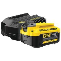 STANLEY SFMCB14M1-QW Set 1x akumulátor 20V 4,0Ah + nabíječka 4,0A SFM-Set 1x akumulátor 20V 4,0Ah + nabíječka 4,0A