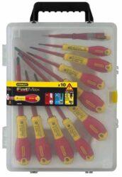 STANLEY 0-62-573 Sada šroubováků 10dílná 1000V v kufru FatMax-10dílná sada izolovaných šroubováků FatMax® PL/PH/PZ + zkoušečka